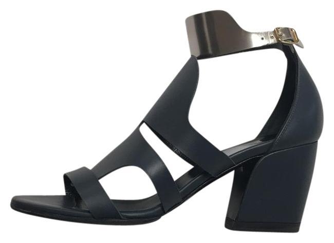 Pierre Hardy Navy Silver Two Tone Sandals Size US 7 Regular (M, B) Pierre Hardy Navy Silver Two Tone Sandals Size US 7 Regular (M, B) Image 1