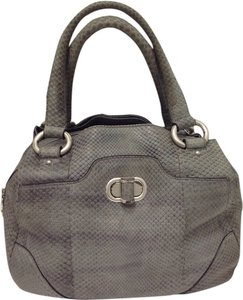Alexander McQueen Python Satchel in Grey