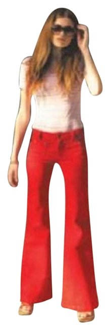 Item - Red Flare Leg Jeans Size 28 (4, S)