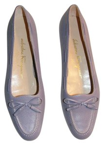 Salvatore Ferragamo Leather Embossed Italian Flats