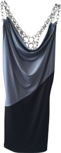 Body Central Silver Hardware Top Gray/Black