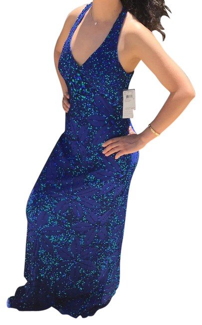 Preload https://img-static.tradesy.com/item/19749853/adrianna-papell-deep-blue-043827800-long-formal-dress-size-2-xs-0-3-650-650.jpg