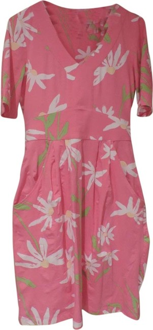 Lilly Pulitzer short dress Pink with White, Green and Yellow Floral on Tradesy
