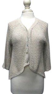 Avalin Sleeve Open Weave Button Front High Sma10363 Sweater