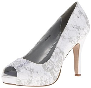 Dyeables Lace Peep Toe Wedding Dyeable White Pumps