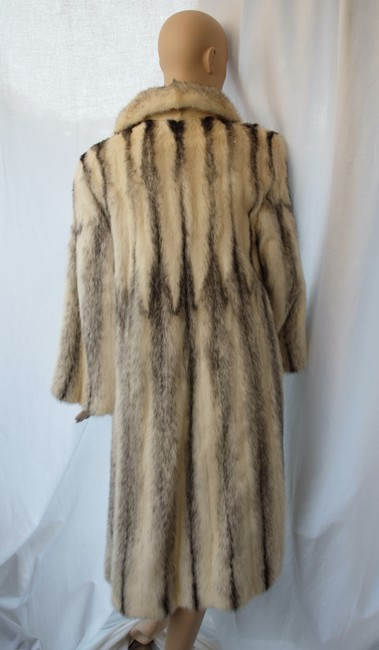 SAGA MINK Monogram Fur Coat