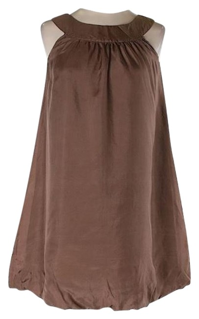 Preload https://img-static.tradesy.com/item/19750324/ella-moss-taupe-brown-silk-bubble-above-knee-cocktail-dress-size-2-xs-0-3-650-650.jpg