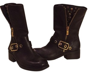 Vince Camuto Embellished Motorcycle Brown Boots
