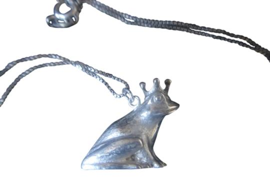J & C Ferrara Jewelry Co. FROG PRINCE LOOKING FOR HIS PRINCESS STERLING SILVER PENDANT & 18