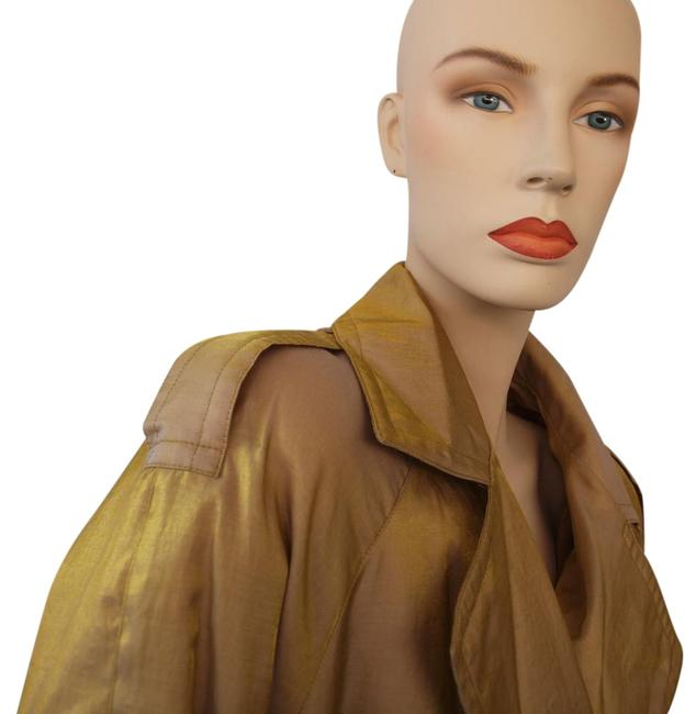 Preload https://img-static.tradesy.com/item/19750564/goldtaupe-mink-lined-trenchraincoat-trench-coat-size-6-s-0-4-650-650.jpg