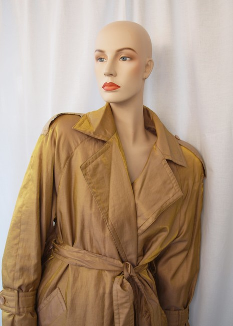 Galle Removeable Lining Mink Real Fur Raincoat Carmel By The Sea Trench Coat