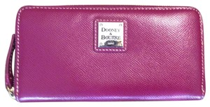 Dooney & Bourke Dooney and Bourke Saffiano large leather zip around wallet