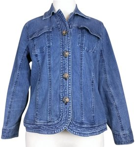 Coldwater Creek Denim blue Womens Jean Jacket