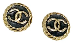 Chanel Vintage Chanel Logo earrings.