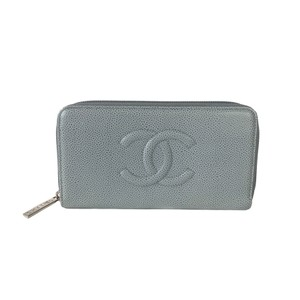 Chanel Chanel Caviar Leather Zip Around Long Wallet
