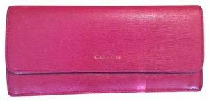 Coach Coach large slim saffiano leather wallet