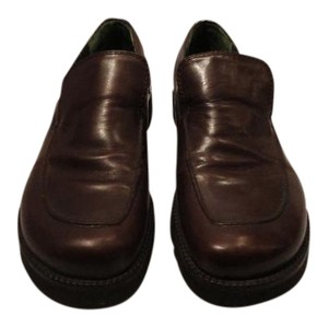 Donald J. Pliner J Loafer Leather Brown Flats