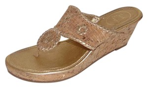 Jack Rogers Marabella Cork Wedge Navajo gold Sandals