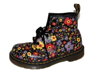 Dr. Martens Martens 101 Floral Print Leather Multi-Color Boots