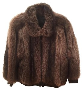 Tolchinski Furs Dark brown/blk Leather Jacket