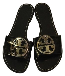 Tory Burch Black Patent Wedges