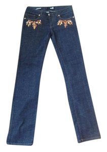 Love Moschino Straight Leg Jeans-Dark Rinse