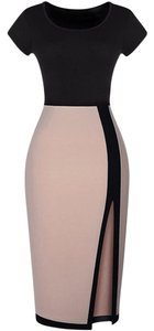 SheIn Pencil Color-blocking Slit Dress