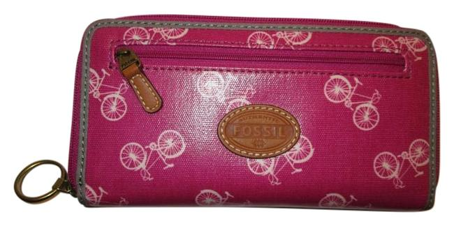 Fossil Pink Purple Orchard Nwt. Rare Color with Bikes. So Cute Wallet Fossil Pink Purple Orchard Nwt. Rare Color with Bikes. So Cute Wallet Image 1
