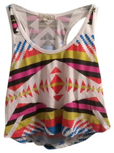 Forever 21 Top Blue, pink, orange and yellow