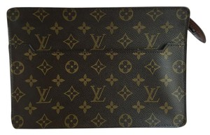Louis Vuitton Pochette Homme Monogram Brown Clutch