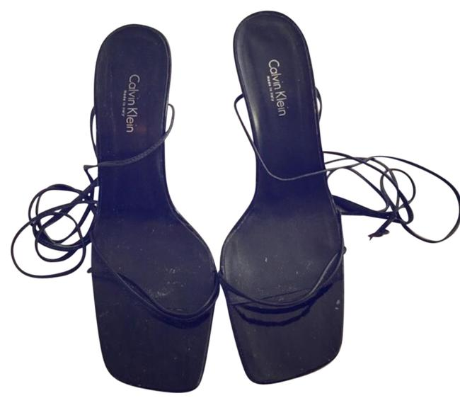 Calvin Klein Black Sandals Size US 7 Regular (M, B) Calvin Klein Black Sandals Size US 7 Regular (M, B) Image 1