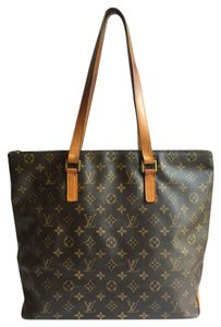 Louis Vuitton Cabas Mezzo Monogram Tote in Brown