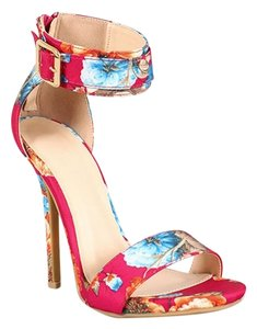 Wild Diva Red & pink Pumps