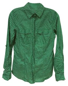 MICHAEL Michael Kors Button Down Shirt Green, White