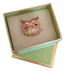 Spring Step Spring Street Adjustable Crystal Owl Ring