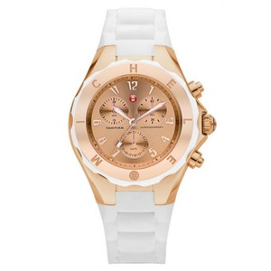 Michele Michele Tahitian Jelly White Silicone Rose Gold Watch MWW12F000030