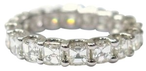 Fine,Asscher,Cut,Diamond,Eternity,Ring,4.50ct,White,Gold,14kt,Sz7