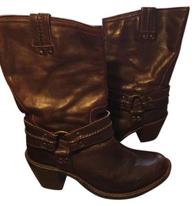Frye Harness Dark Brown Boots