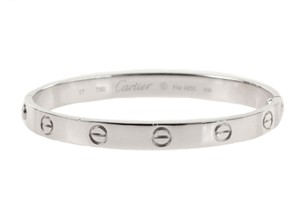 Cartier White Gold Love Bangle