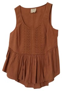 Anthropologie Top Burnt orange