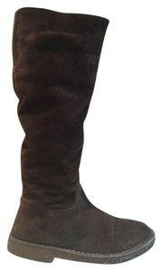 Vince Boot Suede Fur Crepe Boots