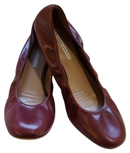 Vera Wang Lavender Label Leather burgundy Flats