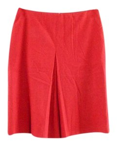 Sisley Italian Paris Pleat Pleated Skirt Red