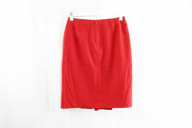 Sisley Italian Paris Pleat Pleated Skirt Red Image 1