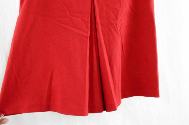 Sisley Italian Paris Pleat Pleated Skirt Red Image 4