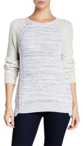 Rebecca Taylor Marl Blocked Cotton Heavy Comfy Sweater