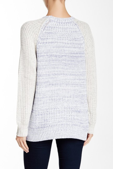 Rebecca Taylor Marl Blocked Cotton Thick Cotton Sweater Image 1