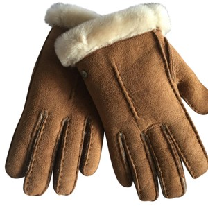 UGG Australia Ugg Original Classic Suede Gloves Full Shearling Lining Sheepskin And Handsewn Very Soft And Warm - m
