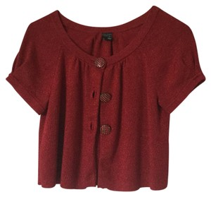 Nicole Miller Top Glitter dark red