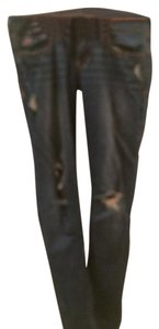 Hollister Stretch Skinny Straight Leg Skinny Jeans-Distressed